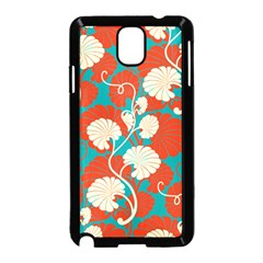 Floral Asian Vintage Pattern Samsung Galaxy Note 3 Neo Hardshell Case (black) by 8fugoso