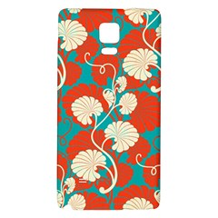 Floral Asian Vintage Pattern Galaxy Note 4 Back Case by 8fugoso