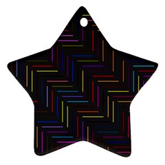 Lines Line Background Ornament (star)