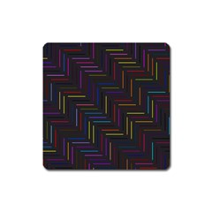 Lines Line Background Square Magnet