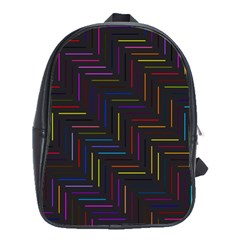 Lines Line Background School Bag (large)