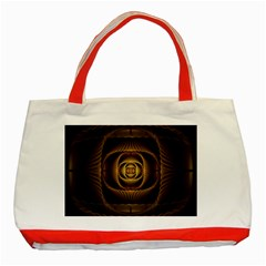Fractal Copper Amber Abstract Classic Tote Bag (red)