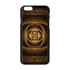 Fractal Copper Amber Abstract Apple Iphone 6/6s Black Enamel Case by Celenk