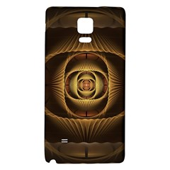 Fractal Copper Amber Abstract Galaxy Note 4 Back Case by Celenk