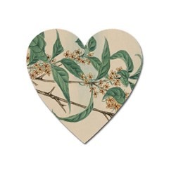 Vintage Watercolour Watercolor Heart Magnet