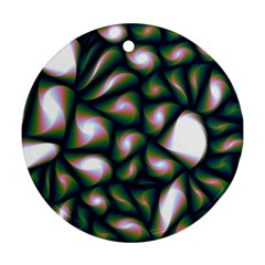 Fuzzy Abstract Art Urban Fragments Ornament (round) by Celenk