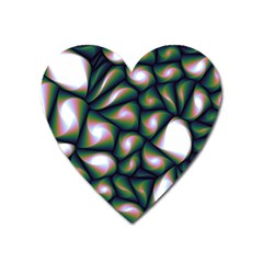 Fuzzy Abstract Art Urban Fragments Heart Magnet by Celenk