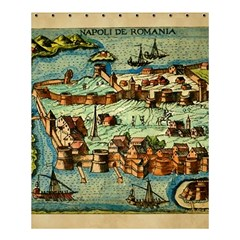 Medeival Ancient Map Fortress Shower Curtain 60  X 72  (medium)
