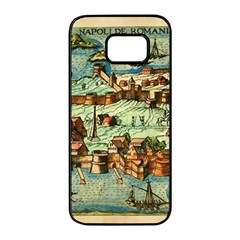 Medeival Ancient Map Fortress Samsung Galaxy S7 Edge Black Seamless Case