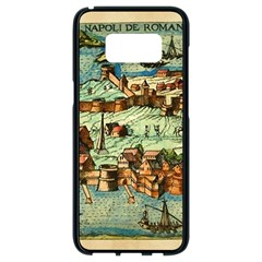 Medeival Ancient Map Fortress Samsung Galaxy S8 Black Seamless Case