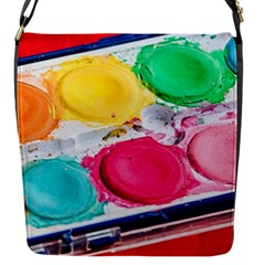 Palette Brush Paint Box Color Flap Messenger Bag (s)