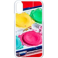 Palette Brush Paint Box Color Apple Iphone X Seamless Case (white)