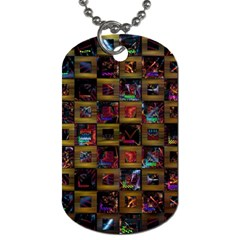 Kaleidoscope Pattern Abstract Art Dog Tag (one Side) by Celenk