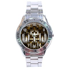 Organ Church Music Organ Whistle Stainless Steel Analogue Watch by Celenk