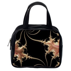 Fractal Art Design Pattern Texture Classic Handbags (one Side)
