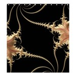 Fractal Art Design Pattern Texture Shower Curtain 66  x 72  (Large)  58.75 x64.8  Curtain