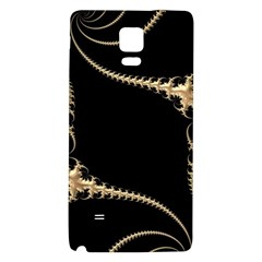Fractal Art Design Pattern Texture Galaxy Note 4 Back Case by Celenk