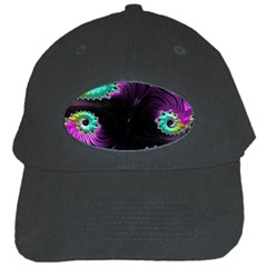 Fractals Spirals Black Colorful Black Cap by Celenk