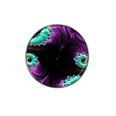 Fractals Spirals Black Colorful Hat Clip Ball Marker (10 Pack) by Celenk