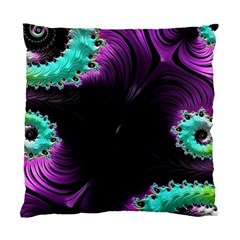 Fractals Spirals Black Colorful Standard Cushion Case (two Sides)