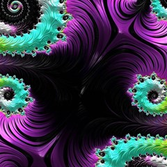 Fractals Spirals Black Colorful Magic Photo Cubes