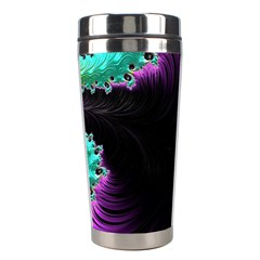 Fractals Spirals Black Colorful Stainless Steel Travel Tumblers by Celenk