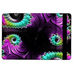 Fractals Spirals Black Colorful Ipad Air 2 Flip by Celenk