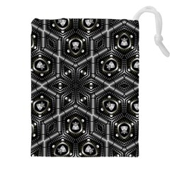 Design Art Pattern Decorative Drawstring Pouches (xxl) by Celenk