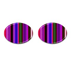 Abstract Background Pattern Textile 4 Cufflinks (oval) by Celenk