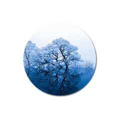 Nature Inspiration Trees Blue Magnet 3  (round) by Celenk