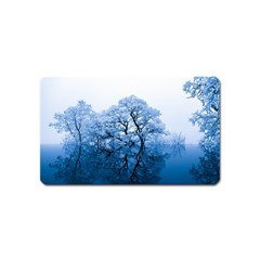 Nature Inspiration Trees Blue Magnet (name Card) by Celenk
