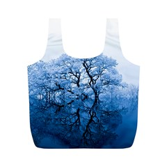 Nature Inspiration Trees Blue Full Print Recycle Bags (m)  by Celenk