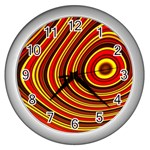 Fractal Art Mathematics Generated Wall Clocks (Silver)  Front