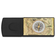 Map Vintage Nautical Collage Rectangular Usb Flash Drive by Celenk