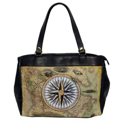 Map Vintage Nautical Collage Office Handbags
