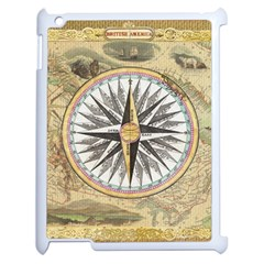 Map Vintage Nautical Collage Apple Ipad 2 Case (white)