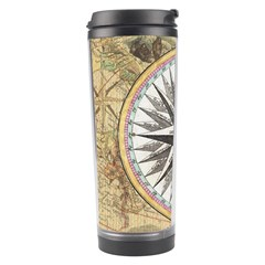 Map Vintage Nautical Collage Travel Tumbler by Celenk