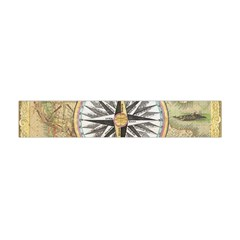 Map Vintage Nautical Collage Flano Scarf (mini) by Celenk