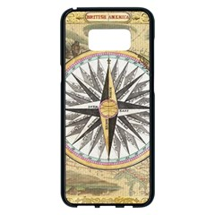 Map Vintage Nautical Collage Samsung Galaxy S8 Plus Black Seamless Case