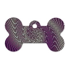 Graphic Abstract Lines Wave Art Dog Tag Bone (one Side)
