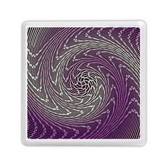 Graphic Abstract Lines Wave Art Memory Card Reader (square)  by Celenk
