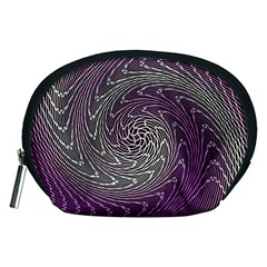 Graphic Abstract Lines Wave Art Accessory Pouches (medium)  by Celenk