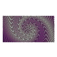Graphic Abstract Lines Wave Art Satin Shawl