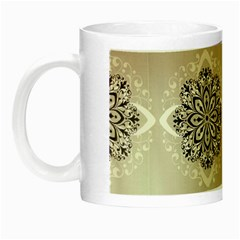 Flower Pattern Pattern Art Night Luminous Mugs by Celenk