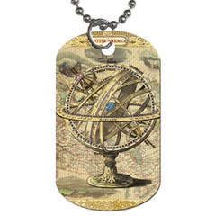 Map Compass Nautical Vintage Dog Tag (one Side) by Celenk