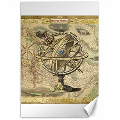 Map Compass Nautical Vintage Canvas 24  X 36  by Celenk