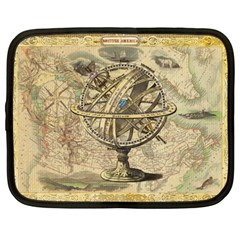 Map Compass Nautical Vintage Netbook Case (large)