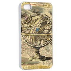 Map Compass Nautical Vintage Apple Iphone 4/4s Seamless Case (white) by Celenk
