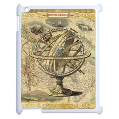 Map Compass Nautical Vintage Apple Ipad 2 Case (white) by Celenk