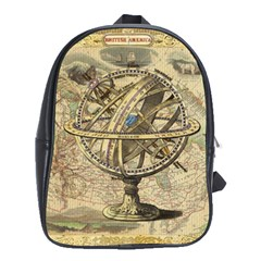 Map Compass Nautical Vintage School Bag (xl) by Celenk